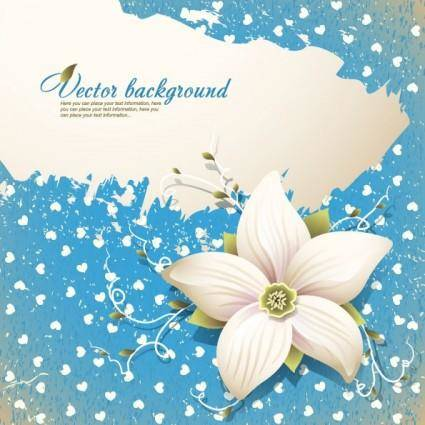 free vector Beautiful flowers shading background 03 vector
