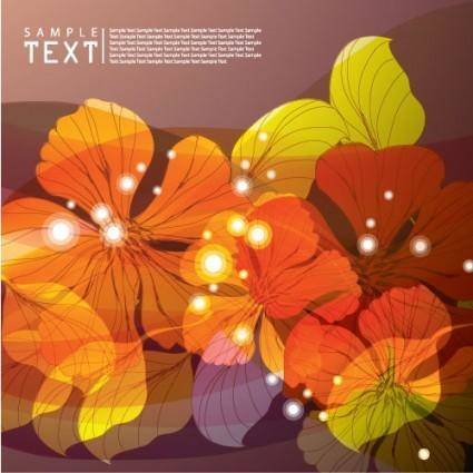 free vector Dream flowers vector background 2
