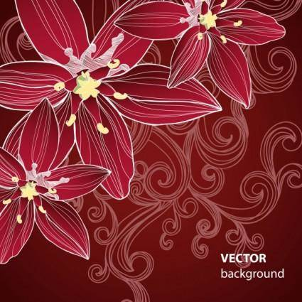Flower background 01 vector