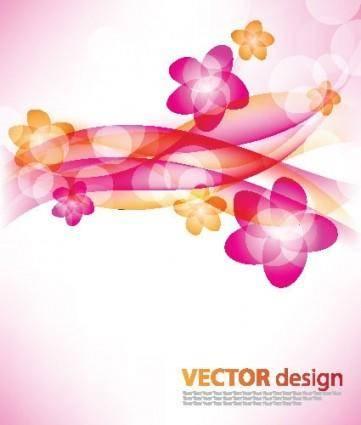 Flower background vector 3