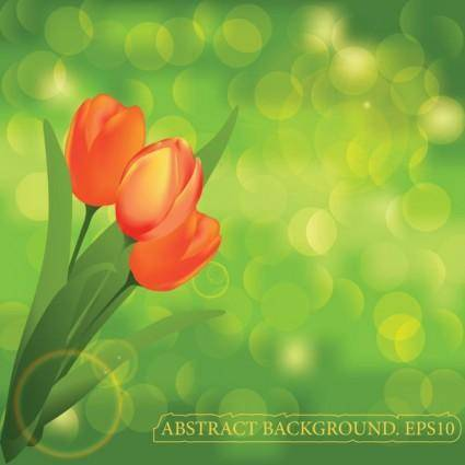 free vector Beautiful flower background vector