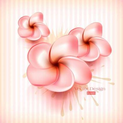 Beautiful flowers background 04 vector