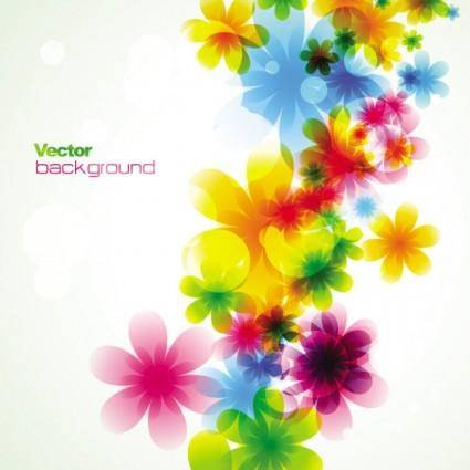 Dream spring flowers background 03 vector