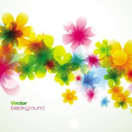 Spring flowers background dream 01 vector