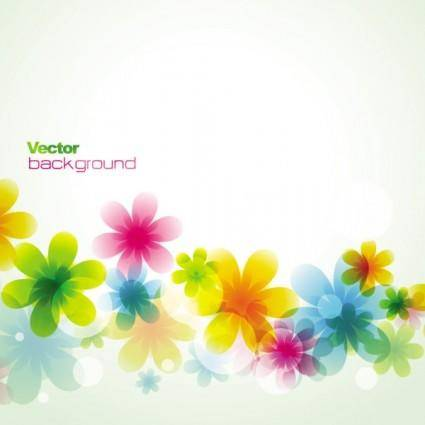 free vector Dream spring flowers background 02 vector