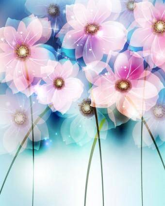 free vector Dream flowers vector background