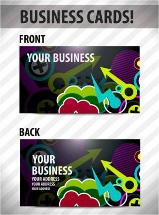 free vector Business card template 03 vector