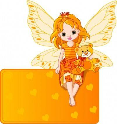 Flower fairy 03 vector