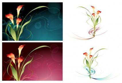 Dream flowers vector 15