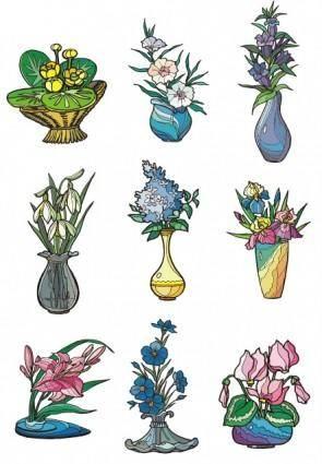 free vector Illustrator vector 2 flower style