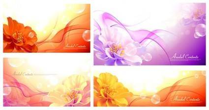 Background with flowers vector dream