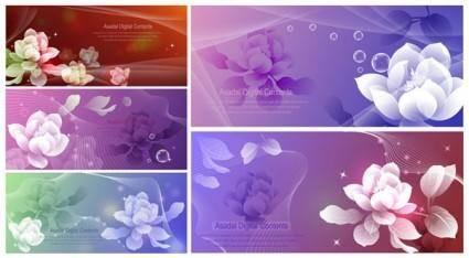 Dream flowers vector 1