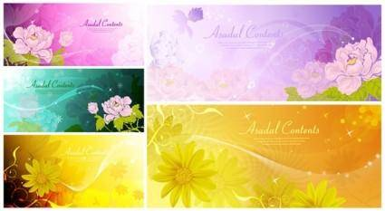 Dream flowers vector 3
