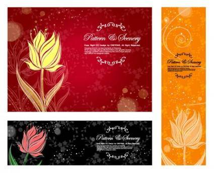 Dream flowers vector 12