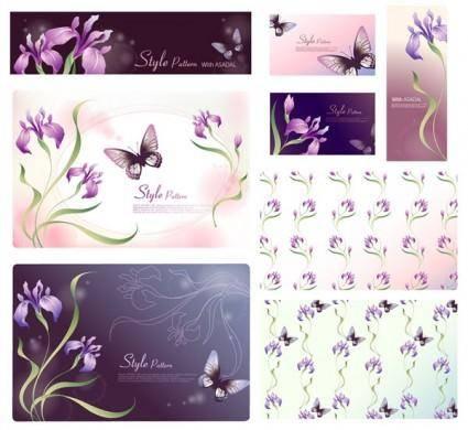free vector Dream flowers vector 17