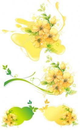 Vector flower water mark