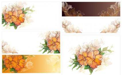 Dream flowers vector 5