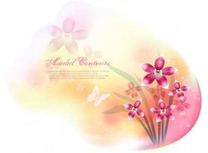 Dream flowers vector 13