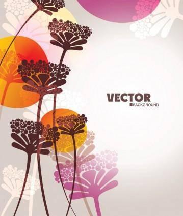 Lovely flowers vector 4