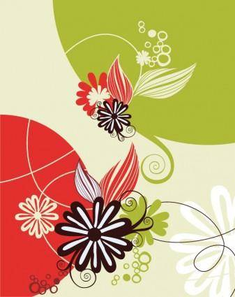 5 lovely flowers vector
