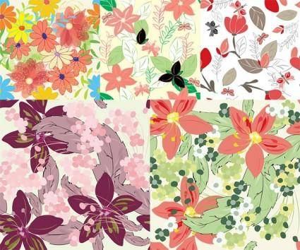 free vector Beautiful flowers vector background