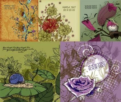 free vector Handpainted flowers vector