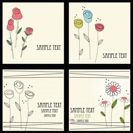 Lovely flowers vector 1