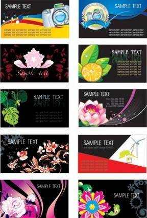 Plant flowers theme card template vector