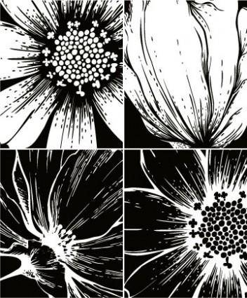 Print flowers vector 1