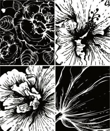 free vector Print flowers vector 2
