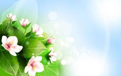 Beautiful flowers vector 2