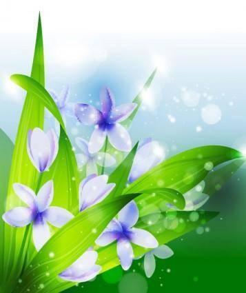 free vector Beautiful flowers vector 1