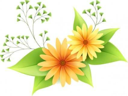 Beautiful small flowers vector 1