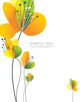 Lovely flowers vector 2