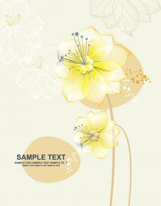 Lovely flowers vector 3