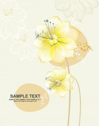 free vector Lovely flowers vector 3