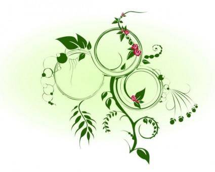 free vector Dynamic green vine vector