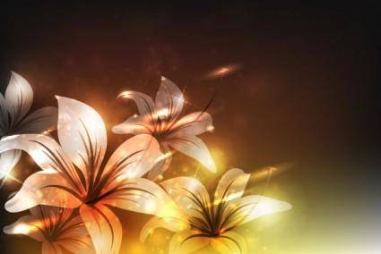 Symphony of flowers vector 2