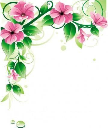 Beautiful flowers 03 vector 20806