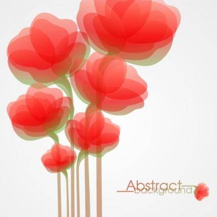 Fashion flowers vector 4