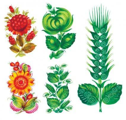 free vector Special handpainted flowers vector