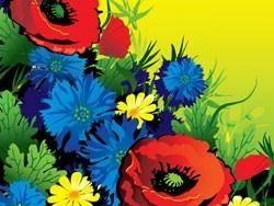 Gorgeous flowers vector