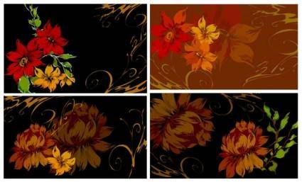 free vector Dream flowers vector 7