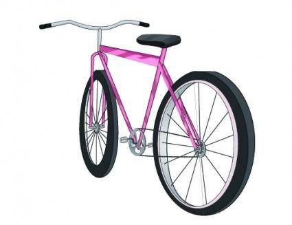 free vector Flowers general bicycle vector
