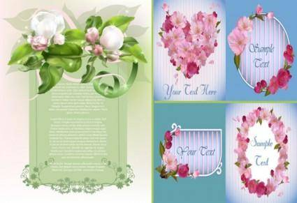 free vector Spring flowers and elegant vector background