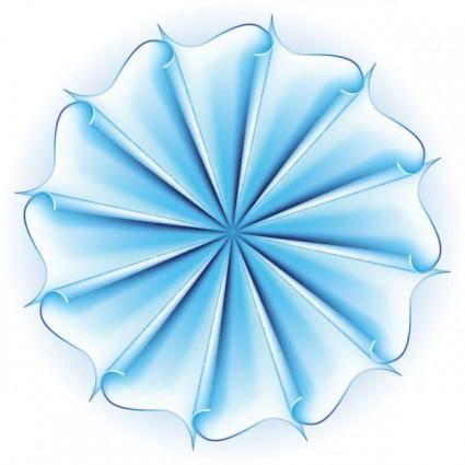 Beautiful paper flowers 01 vector