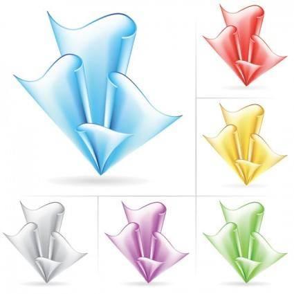 Beautiful paper flowers 02 vector