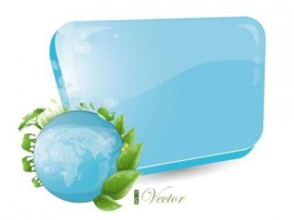 Blue and green dialog 02 vector
