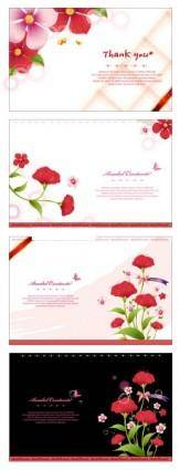 free vector Flower card template vector