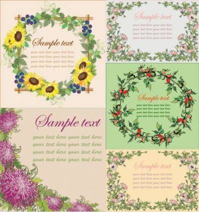 free vector Vector flowers frame